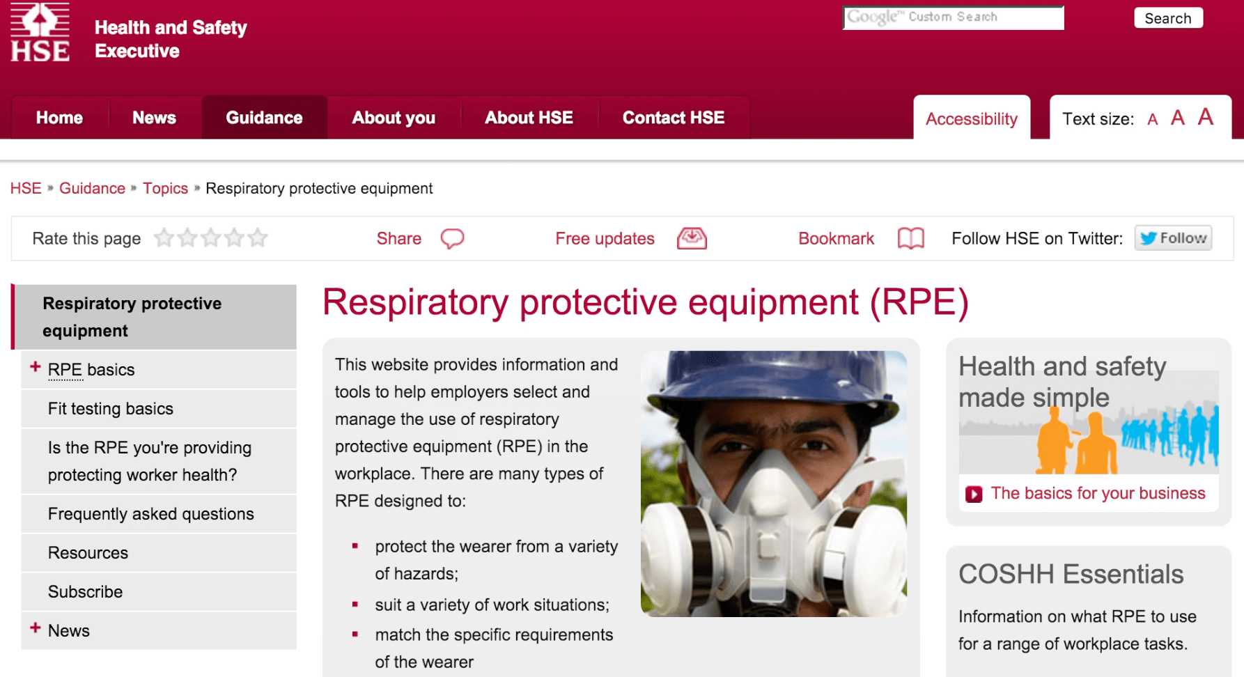 know your workplace exposure limits by visiting the health and safety executive website