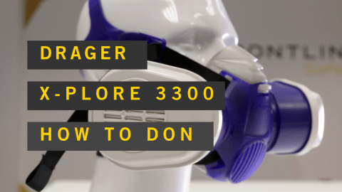 DRAGER x-plore 3300 how to don properly