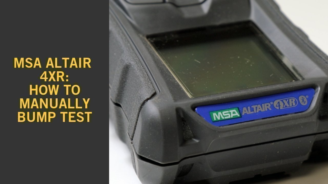 Msa Altair 4xr How To Manually Bump Test 183 Frontline