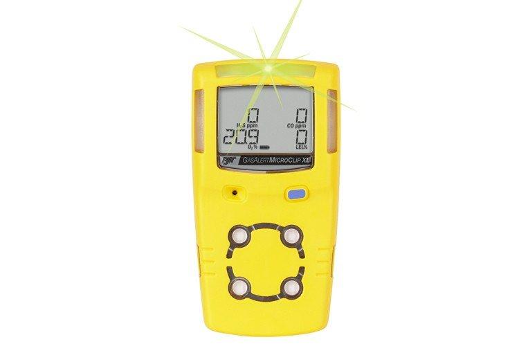 BW Technologies GasAlertMicroClip XL Four-Gas Detector, O2/CO/H2S/LEL