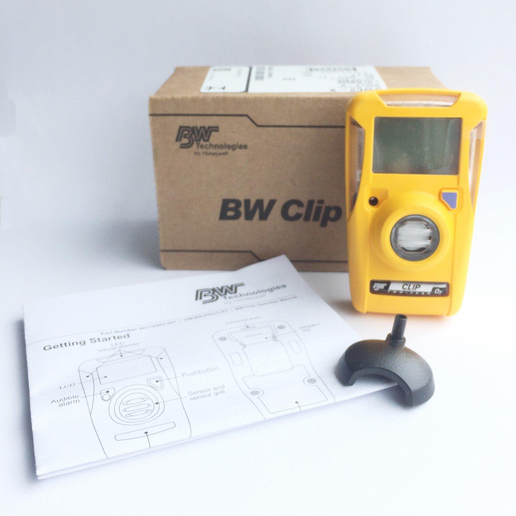 BW Clip (2 Year) Oxygen (O2) 19.5/23.5% vol. Gas Detector