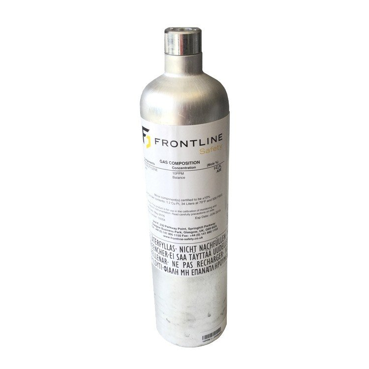 Frontline Safety 58L 25PPM H2S / 100PPM CO / 2.2% CH4 / 18% O2 / N2 Calibration Gas