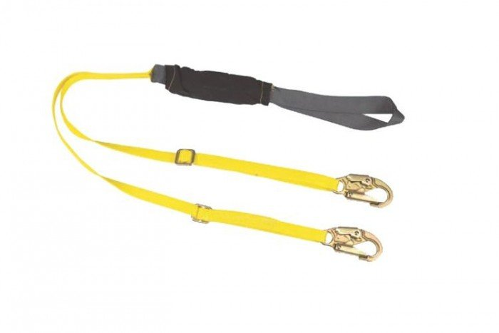 MSA ArcSafe Lanyard (Twin-Leg/Hitch Loop/2 x 19mm Snaphooks)