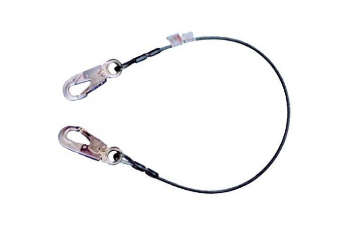 msa restraint lanyard  cable  1 5m fixed length