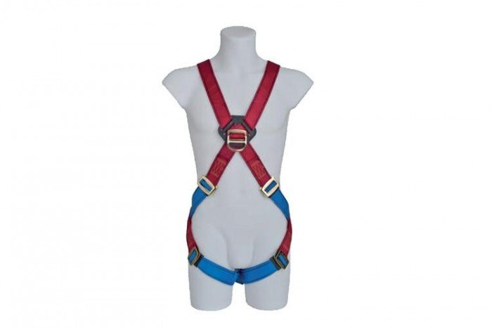 MSA Gravity Harness (XLG /red/blue nylon webbing)
