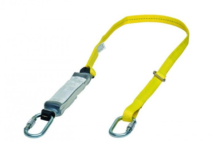MSA Workman Energy-Absorb Web Lanyard - Single-Leg/StSn-StSn