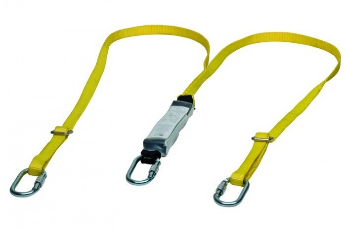 MSA Workman Energy-Absorb Web Lanyard - Twin-Leg/St-Sc-Cara