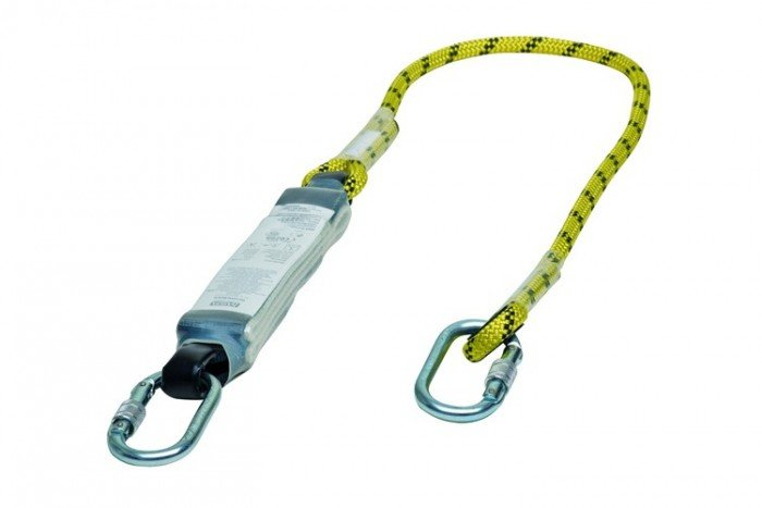 MSA Workman Energy-Absorb Rope Lanyard 2m - Single-Leg/Al-Sc-Cara
