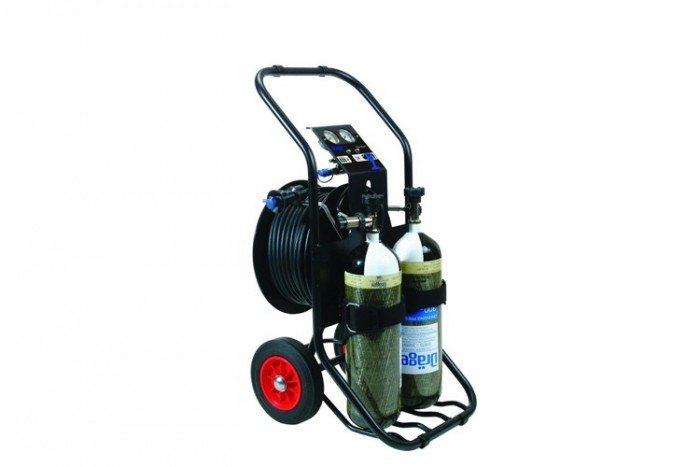 Drager PAS AirPack 1 - Trolley/Reducer Hose Reel/50m Hose