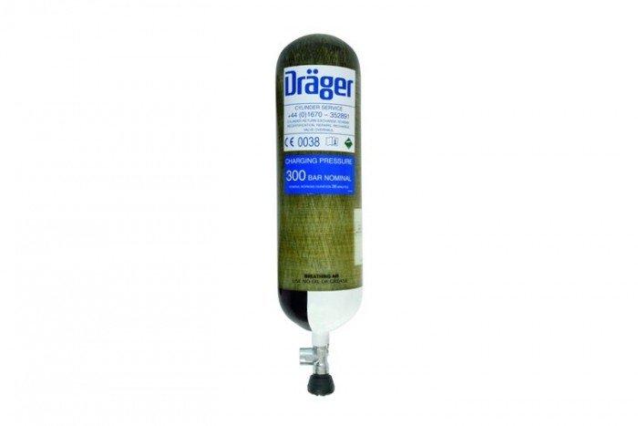 Drager 9L 300 bar (In-Line Valve) - Carb. Comp.