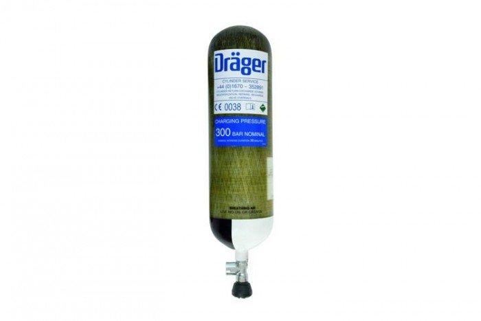 Drager Working 3 Litre 200 Bar Steel Cylinder