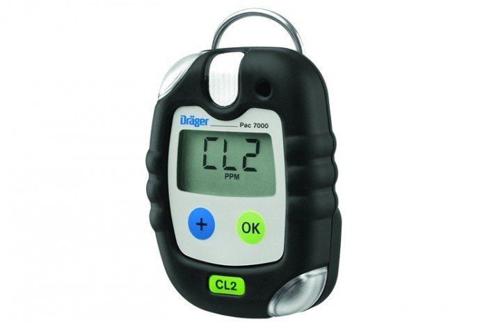 Drager - Pac 7000 Chlorine (CL2) Personal Gas Detector