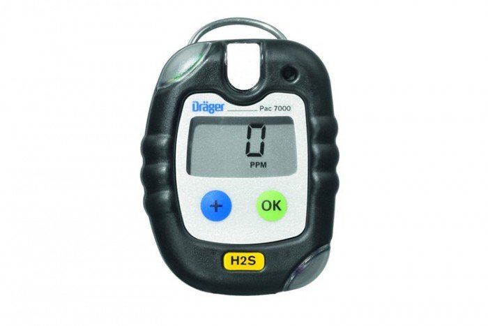 Drager Pac 7000 5Y Hydrogen Sulfide (H2S) Personal Gas Detector