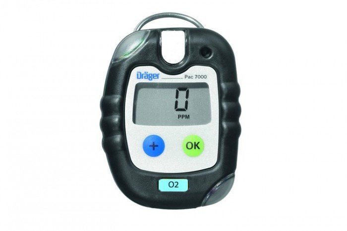 Drager Pac 7000 5Y Oxygen (O2) Personal Gas Detector