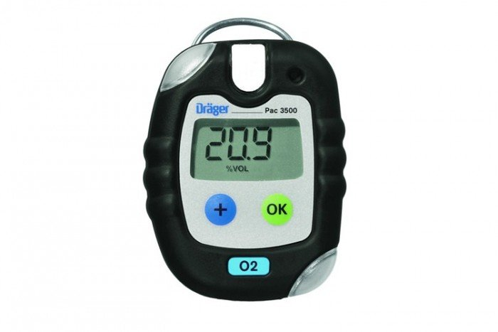 Drager Pac 3500 Oxygen (O2) Personal Gas Detector