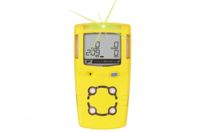 BW Technologies GasAlertMicroClip XL Four-Gas Detector, O2/CO/H2S/LEL