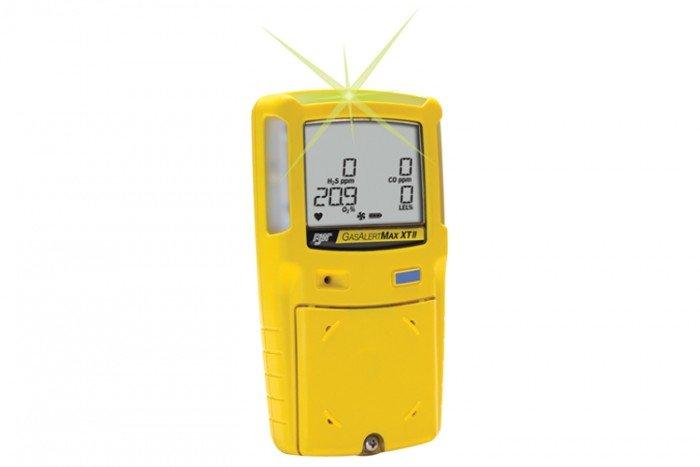 BW GasAlert Max XT II Multi Gas Detector - Rechargeable Battery & Yellow Housing