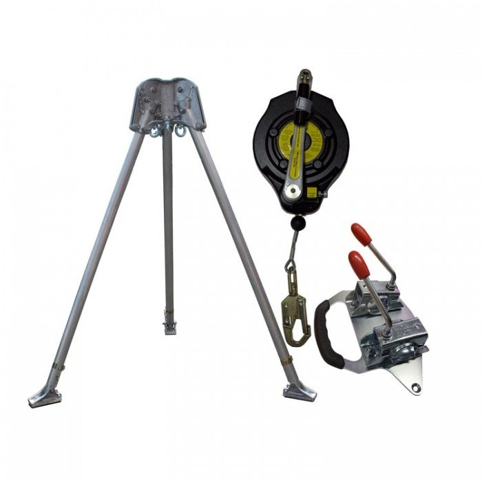 Abtech Confined Space Kit - Tripod/15m Fall Arrest Winch and Brackets