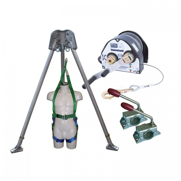 Abtech Confined Space Kit - Tripod/27m Winch/Brackets and Rescue Harness