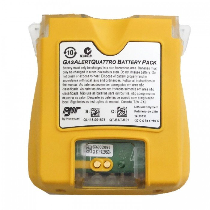 BW Rechargeable Battery for GasAlertQuattro (Yellow)
