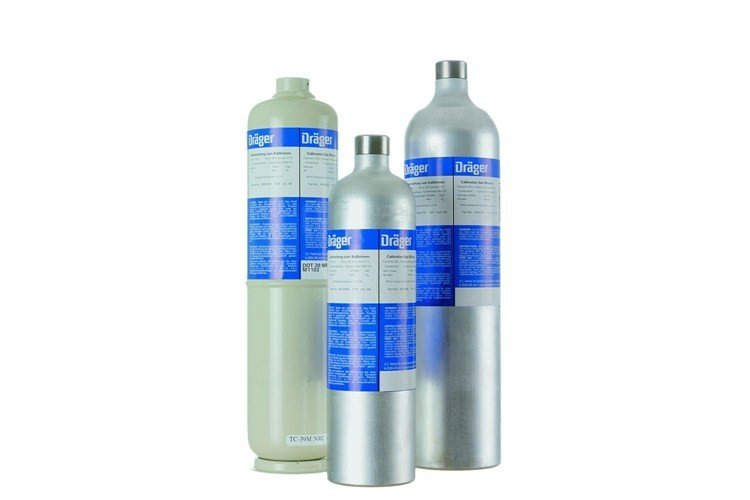 Drager 58L Hydrogen Sulfide - H2S/nitrogen 20ppm Calibration Gas