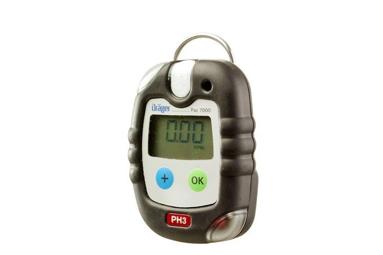 Drager Pac 7000 Phosphine Personal Gas Detector