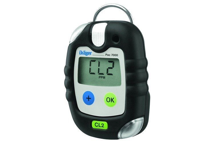 Drager Pac 7000 Chlorine Personal Gas Monitor