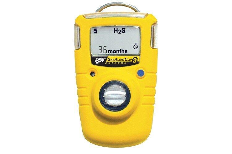 Portable Gas Detection >> BW GasAlertClip Extreme H2S Gas Detector 5/10 - GA36XT-H510