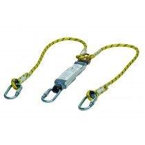 MSA Workman Energy-Absorb Rope Lanyard 1.5m - Twin-Leg/AlScCara/StScaf