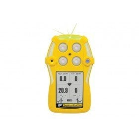 BW GasAlert Quattro LEL(F)O2 H2S CO Gas Detector (Alkaline Battery)