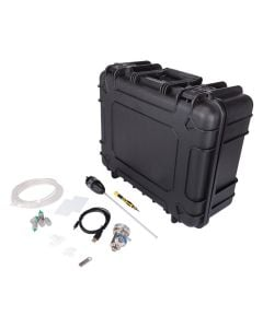 Heavy duty case with black custom foam and confined space accessories
