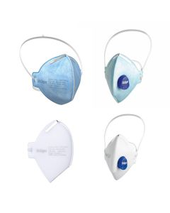 Drager X-plore disposable masks for FFP2 and FFP3. White masks for FFP3 and Blue for FFP2