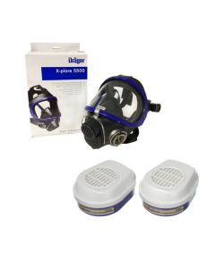 Drager X-plore 5500 Full Mask c/w ABEKHgP3 Filter (3 x Pairs)