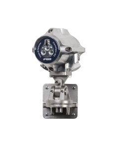 Stainless steel flame detector from FGD with blue label for   easy identification.
