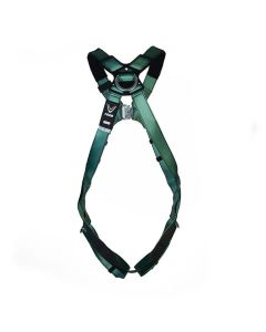MSA V-FORM Harness with Back D-Ring and Qwik-Fit Leg Buckles