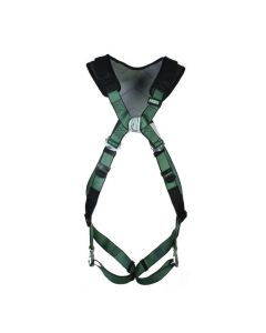 MSA V-FORM+ Harness Front Facing in green with Metal D Buckle