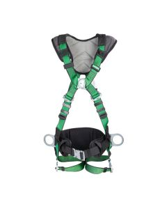 MSA V-FORM+ green Harness front facing with waist belt