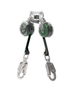 MSA V-TEC Mini PFL, 1.8m, Webbing, Twin-Leg, Aluminium Scaffold Lightweight Hooks (End)