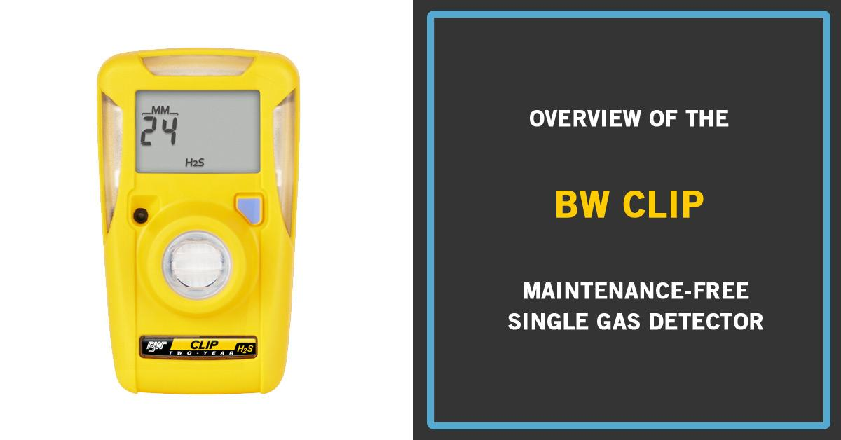 BW Clip - Disposable Single Gas Detector from Frontline Safety